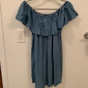 Forever 21 Chambray Off the Shoulder Dress
